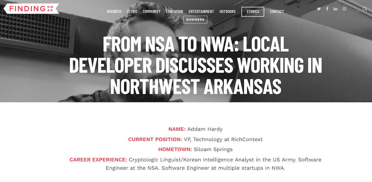 From NWA To NWA - Local Developer Discusses Working In Northwest Arkansas