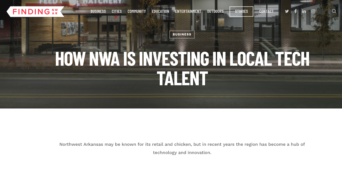 How NWA is Investing in Local Tech Talent