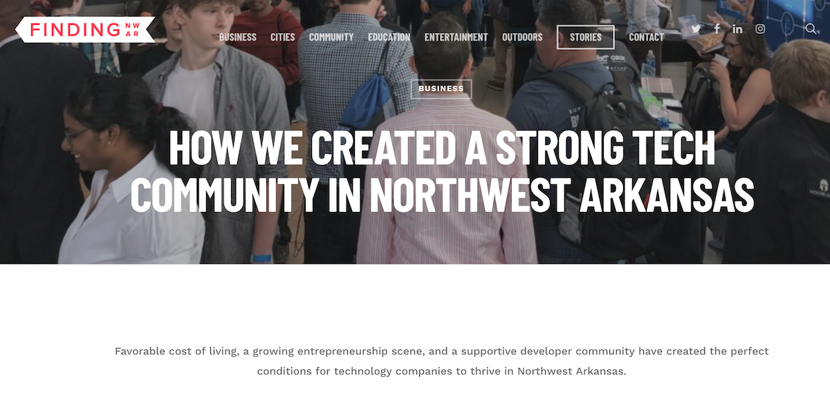 How We Created a Strong Tech Community in Northwest Arkansas