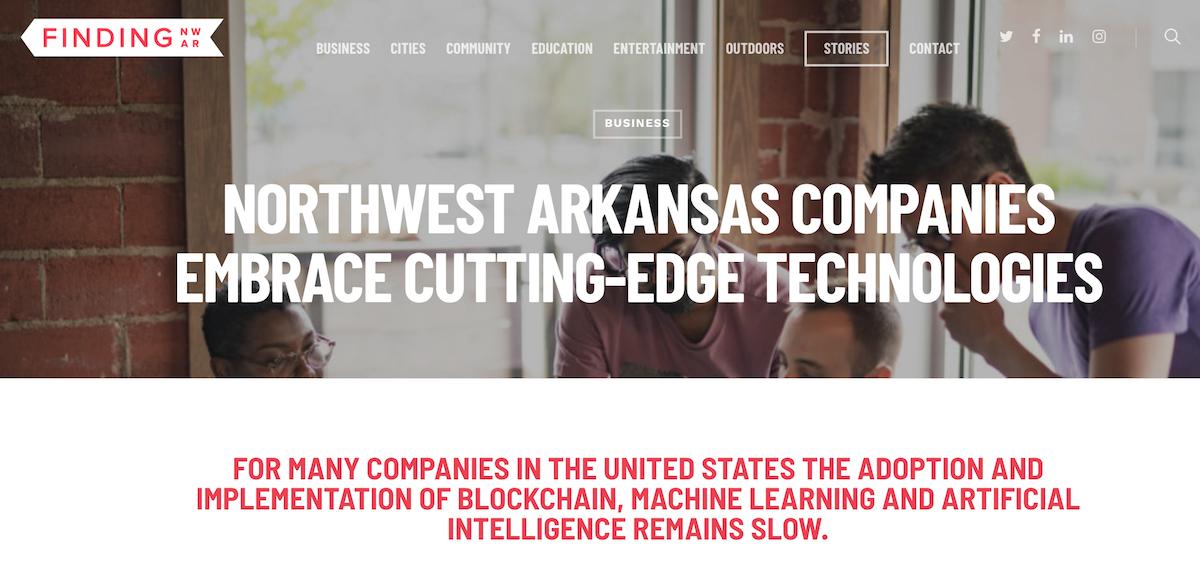 Northwest Arkansas Companies Embrace Cutting-Edge Technologies - FindingNWA Article